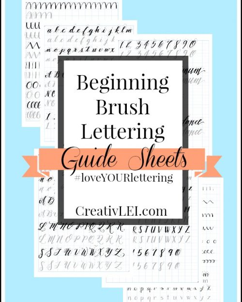 LYL1 Brush Lettering Guide Sheets