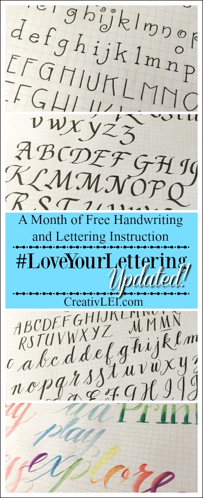 Love Your Lettering with CreativLEI.com Now Updated